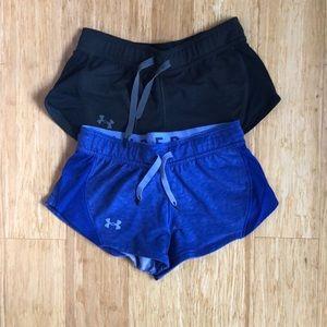 Bundle of 2 Size XS Women's Under Armour Shorts